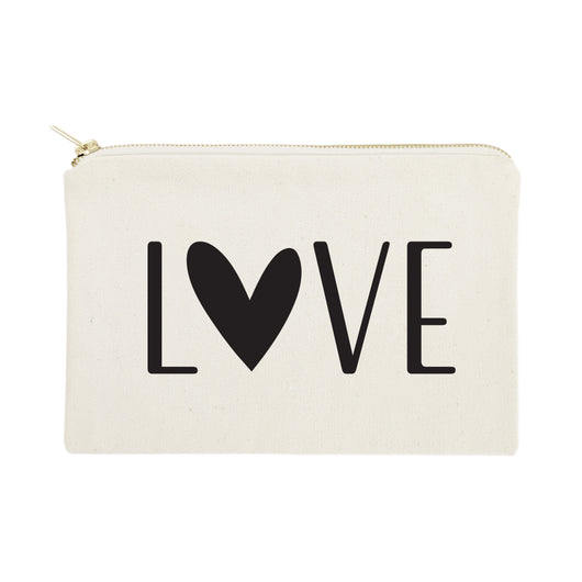 Love Cotton Canvas Cosmetic Bag - The Cotton and Canvas Co.