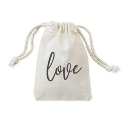 Love Wedding Favor Bags, 6-Pack - The Cotton and Canvas Co.