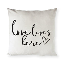 Love Lives Here Pillow Cover - The Cotton and Canvas Co.