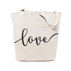 Love Cotton Canvas Tote Bag - The Cotton and Canvas Co.