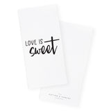 Love is Sweet Kitchen Tea Towel and Dish Cloth - The Cotton and Canvas Co.