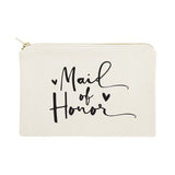 Maid of Honor Cotton Canvas Cosmetic Bag - The Cotton and Canvas Co.