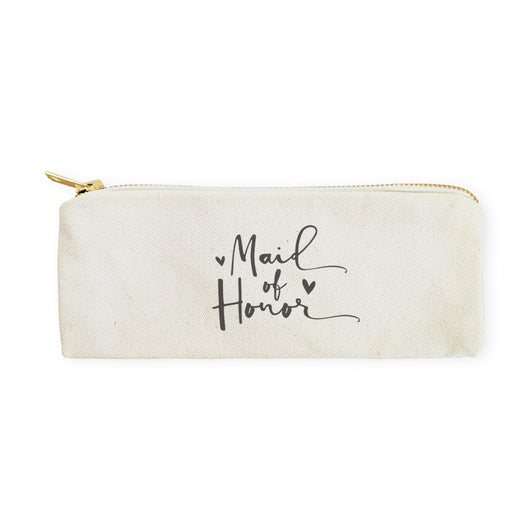 Maid of Honor Cotton Canvas Pencil Case and Travel Pouch - The Cotton and Canvas Co.