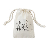 Maid of Honor Wedding Favor Bags, 6-Pack - The Cotton and Canvas Co.