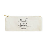Maid of Honor Personalized Cotton Canvas Pencil Case and Travel Pouch - The Cotton and Canvas Co.