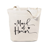 Maid of Honor Wedding Cotton Canvas Tote Bag - The Cotton and Canvas Co.