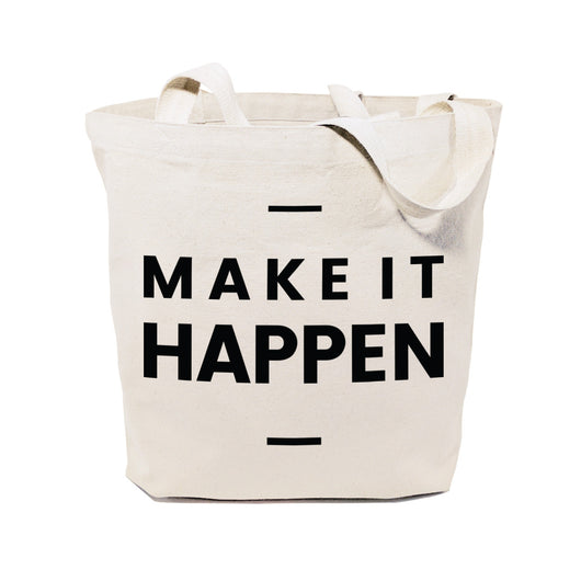 Make It Happen Cotton Canvas Tote Bag - The Cotton and Canvas Co.
