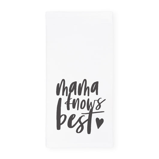 Mama Knows Best Kitchen Tea Towel - The Cotton and Canvas Co.