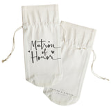 Matron of Honor Canvas Wine Bag - The Cotton and Canvas Co.