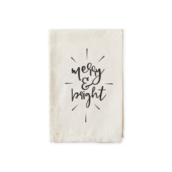 Merry and Bright Christmas Cotton Canvas Muslin Napkins - The Cotton and Canvas Co.