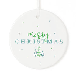Modern Merry Christmas Ornament