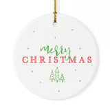 Classic Merry Christmas Ornament - The Cotton and Canvas Co.