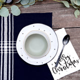 Merry Christmas Cotton Canvas Muslin Napkins - The Cotton and Canvas Co.