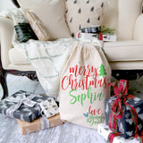 Personalized Love Mommy and Daddy Santa Sack