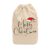 Merry Christmas Cotton Canvas Santa Sack - The Cotton and Canvas Co.