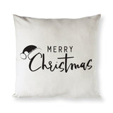 Merry Christmas Cotton Canvas Holiday Pillow Cover - The Cotton and Canvas Co.