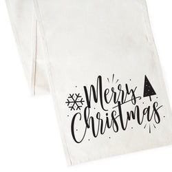 Merry Christmas Cotton Canvas Table Runner - The Cotton and Canvas Co.