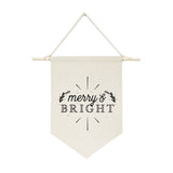 Merry and Bright Hanging Wall Banner - The Cotton and Canvas Co.