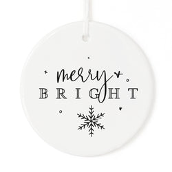 Merry + Bright Christmas Ornament - The Cotton and Canvas Co.