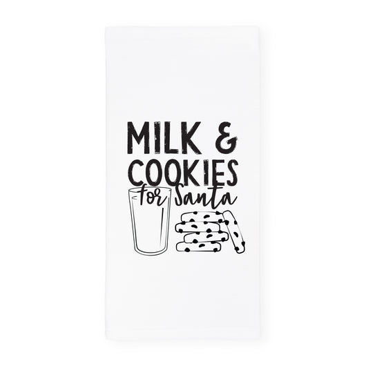 Milk and Cookies for Santa Cotton Canvas Christmas Kitchen Tea Towel - The Cotton and Canvas Co.