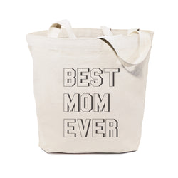 Modern Best Mom Ever Cotton Canvas Tote Bag - The Cotton and Canvas Co.