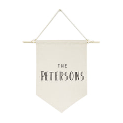 Personalized Family Name Modern Hanging Wall Banner - The Cotton and Canvas Co.