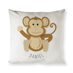 Personalized Monkey Baby Pillow Cover - The Cotton and Canvas Co.