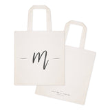Personalized Handwritten Monogram Cotton Canvas Tote Bag - The Cotton and Canvas Co.