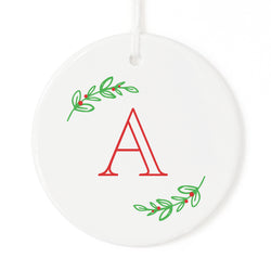 Personalized Monogram with Vine Christmas Ornament