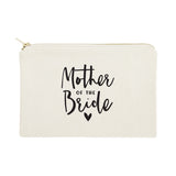 Mother of the Bride Cotton Canvas Cosmetic Bag - The Cotton and Canvas Co.