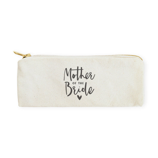Mother of the Bride Cotton Canvas Pencil Case and Travel Pouch - The Cotton and Canvas Co.