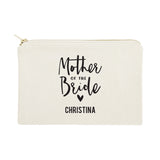 Personalized Mother of the Bride Cotton Canvas Cosmetic Bag - The Cotton and Canvas Co.