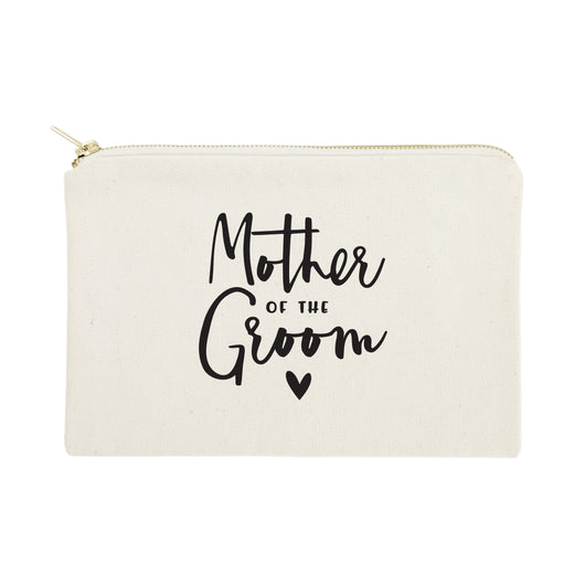 Mother of the Groom Cotton Canvas Cosmetic Bag - The Cotton and Canvas Co.