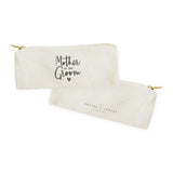 Mother of the Groom Cotton Canvas Pencil Case and Travel Pouch - The Cotton and Canvas Co.