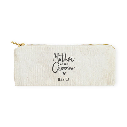 Mother of the Groom Personalized Cotton Canvas Pencil Case and Travel Pouch - The Cotton and Canvas Co.