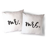 Mr. and Mrs. Pillow Covers, 2-Pack - The Cotton and Canvas Co.
