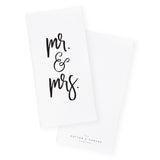 Mr. & Mrs. Kitchen Tea Towel and Dish Cloth - The Cotton and Canvas Co.
