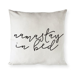 Namastay in Bed Pillow Cover - The Cotton and Canvas Co.