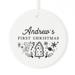 Personalized Name First Christmas Ornament