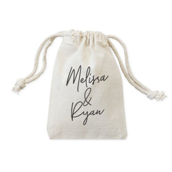 Personalized Couple Name Wedding Favor Bags, 6-Pack - The Cotton and Canvas Co.