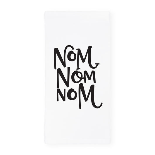 Nom Nom Nom Kitchen Tea Towel and Dish Cloth - The Cotton and Canvas Co.