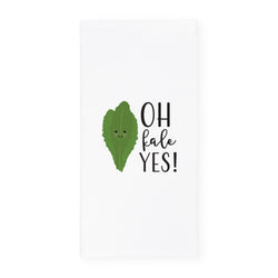 Oh Kale Yes! Kitchen Tea Towel - The Cotton and Canvas Co.