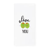 Olive You Kitchen Tea Towel and Dish Cloth - The Cotton and Canvas Co.