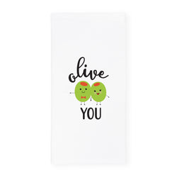 Olive You Kitchen Tea Towel - The Cotton and Canvas Co.