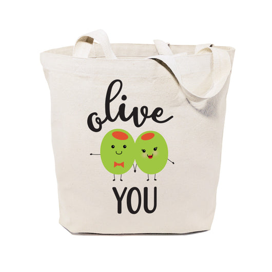 Olive You Cotton Canvas Tote Bag - The Cotton and Canvas Co.