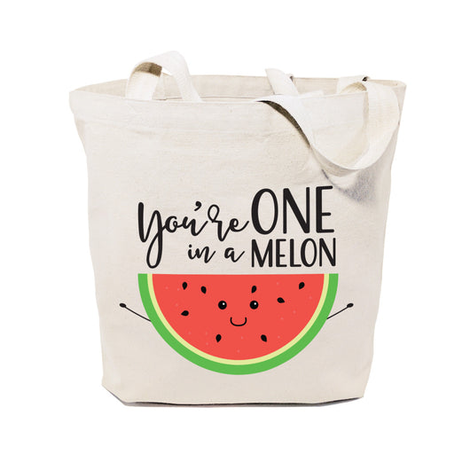 You're One in a Melon Cotton Canvas Tote Bag - The Cotton and Canvas Co.