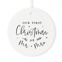 Our First Christmas as Mr. & Mrs. Christmas Ornament