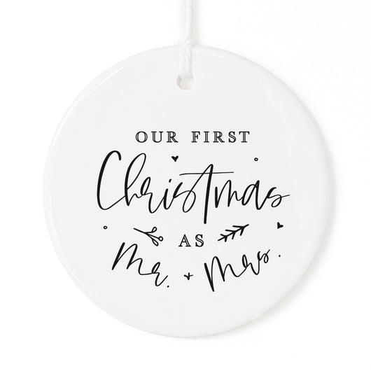 Our First Christmas as Mr. & Mrs. Christmas Ornament - The Cotton and Canvas Co.