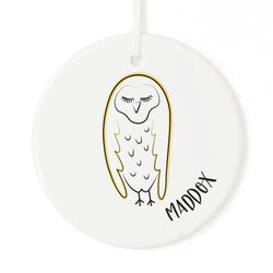 Personalized Name Owl Christmas Ornament - The Cotton and Canvas Co.