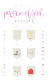 Custom Hanging Wall Banner - The Cotton and Canvas Co.